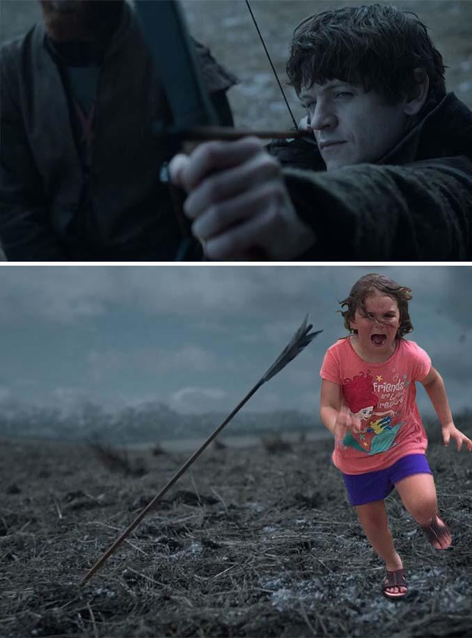 Κοριτσάκι τρέχει να γλυτώσει από παγόνι και οι ειδικοί του Photoshop αναλαμβάνουν δράση (13)