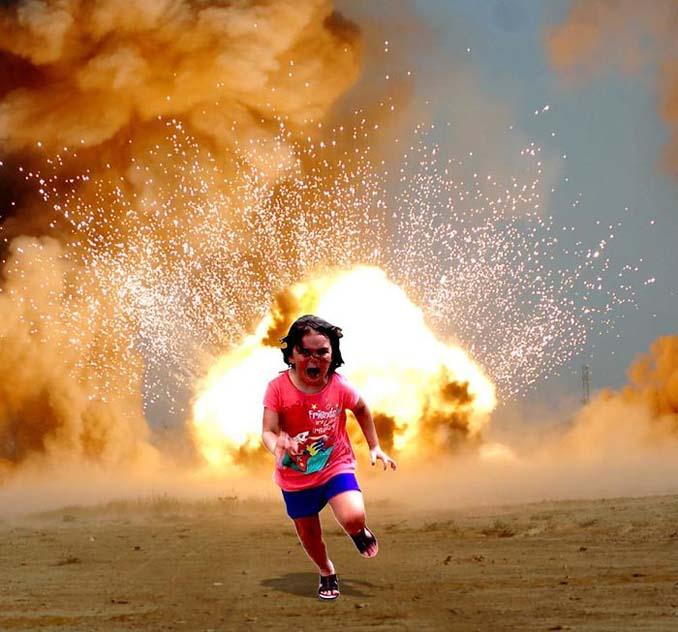 Κοριτσάκι τρέχει να γλυτώσει από παγόνι και οι ειδικοί του Photoshop αναλαμβάνουν δράση (15)