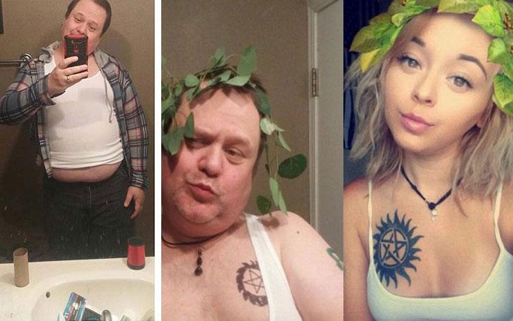 Πατέρας μιμείται τις selfies των παιδιών του με ξεκαρδιστικό τρόπο (1)