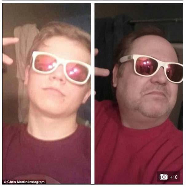 Πατέρας μιμείται τις selfies των παιδιών του με ξεκαρδιστικό τρόπο (2)