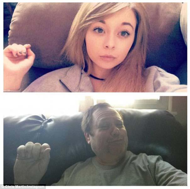 Πατέρας μιμείται τις selfies των παιδιών του με ξεκαρδιστικό τρόπο (5)