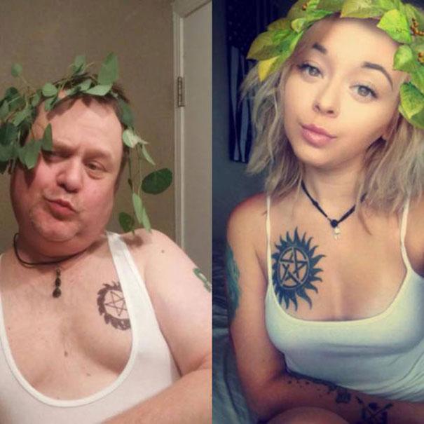Πατέρας μιμείται τις selfies των παιδιών του με ξεκαρδιστικό τρόπο (7)