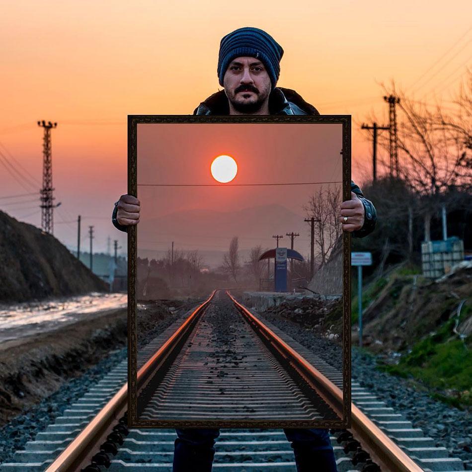 Οφθαλμαπάτη στις γραμμές του τρένου | Φωτογραφία της ημέρας