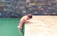 Ο πιο εντυπωσιακός τρόπος για να βγεις από την πισίνα