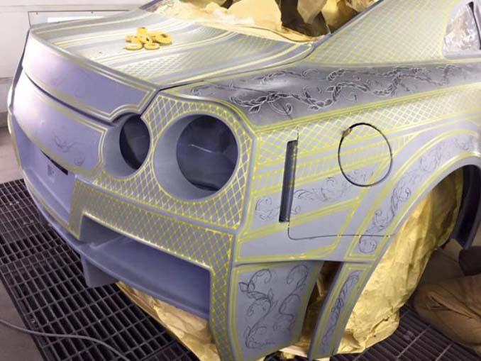 Σκαλιστό Nissan GT-R (2)