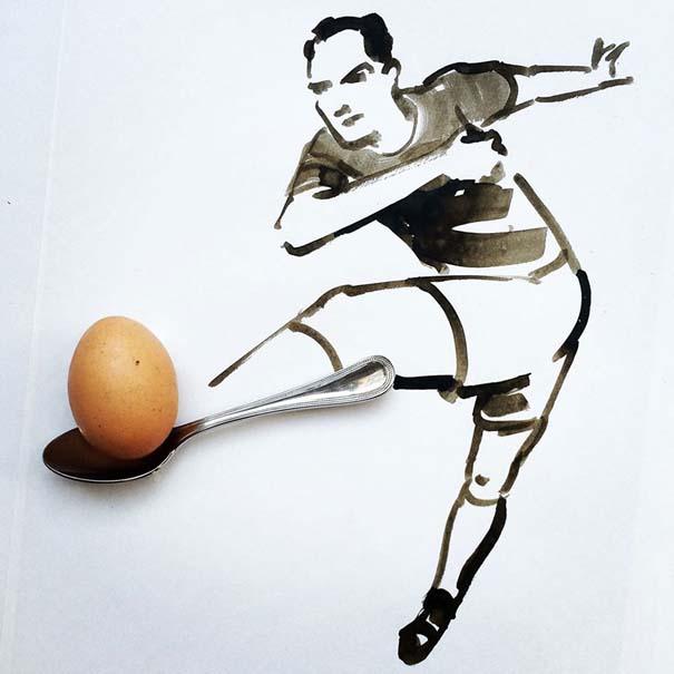 Σκιτσογράφος ολοκληρώνει τα σκίτσα του με καθημερινά αντικείμενα (5)