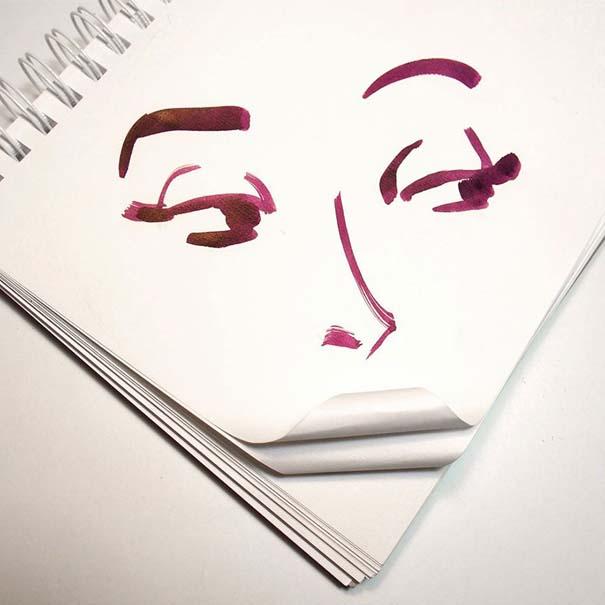 Σκιτσογράφος ολοκληρώνει τα σκίτσα του με καθημερινά αντικείμενα (12)