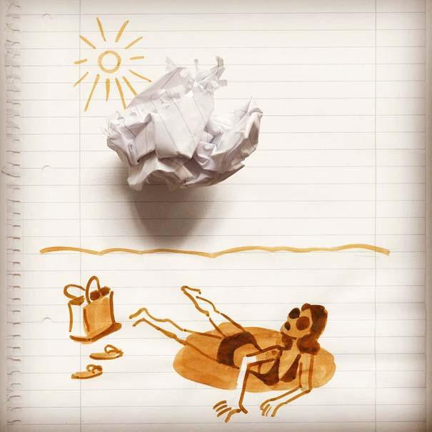 Σκιτσογράφος ολοκληρώνει τα σκίτσα του με καθημερινά αντικείμενα (22)