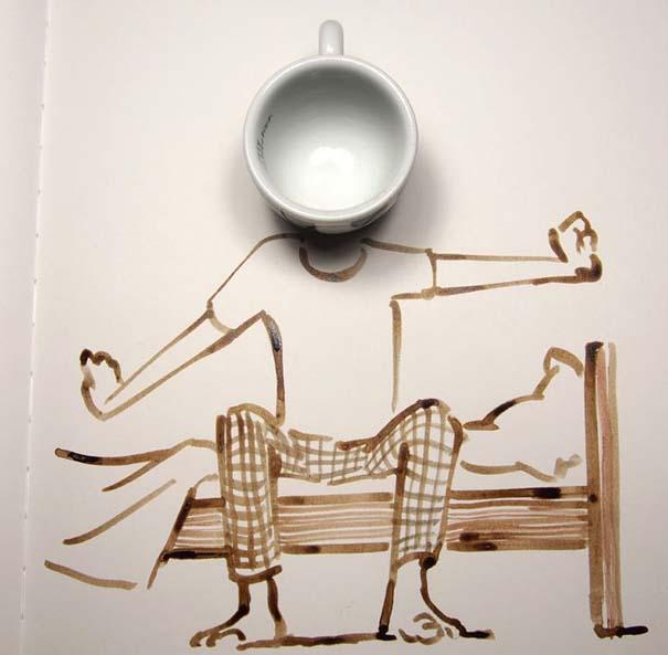 Σκιτσογράφος ολοκληρώνει τα σκίτσα του με καθημερινά αντικείμενα (31)