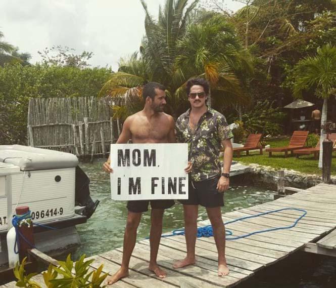 Χρήστης του Instagram γυρίζει τον κόσμο με το μήνυμα «Μαμά είμαι καλά» (8)