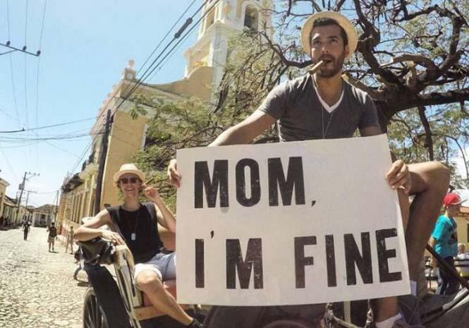 Χρήστης του Instagram γυρίζει τον κόσμο με το μήνυμα «Μαμά είμαι καλά» (13)