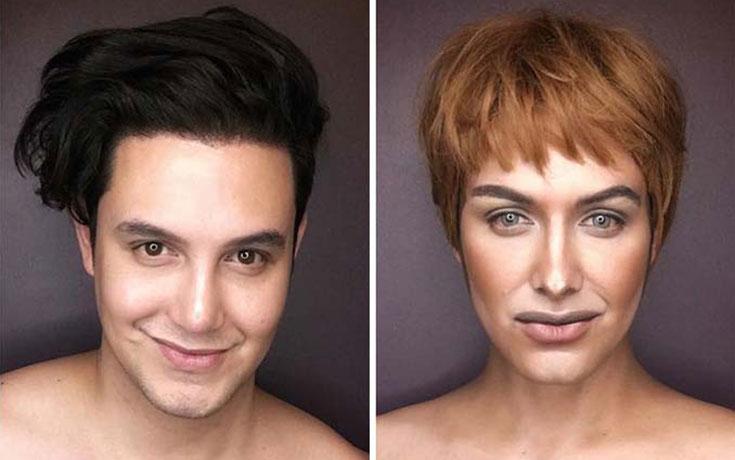 Άνδρας μεταμορφώνεται σε χαρακτήρες Game of Thrones με μακιγιάζ (1)