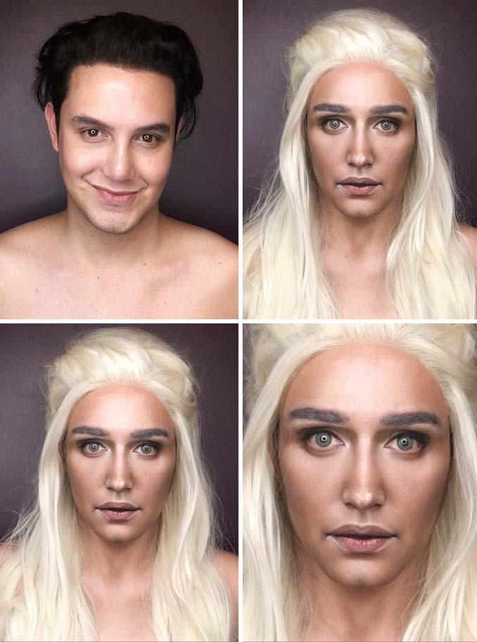 Άνδρας μεταμορφώνεται σε χαρακτήρες Game of Thrones με μακιγιάζ (2)