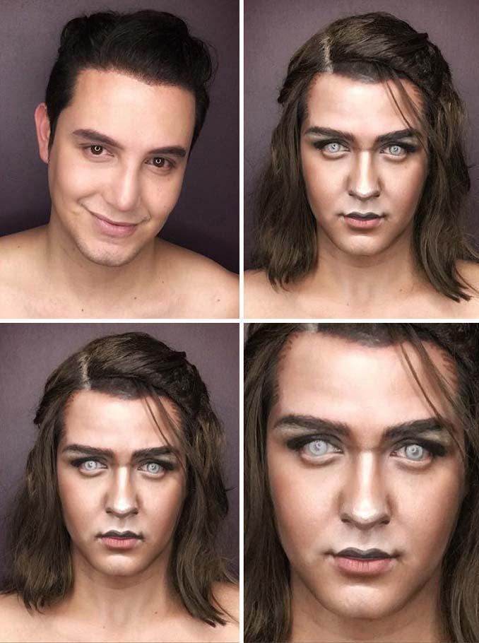 Άνδρας μεταμορφώνεται σε χαρακτήρες Game of Thrones με μακιγιάζ (3)