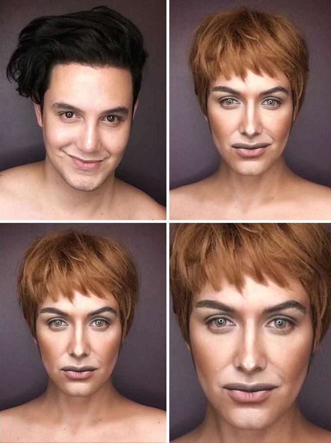 Άνδρας μεταμορφώνεται σε χαρακτήρες Game of Thrones με μακιγιάζ (4)