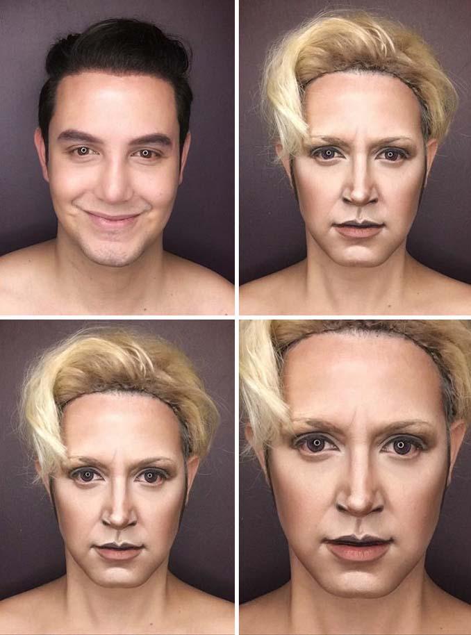 Άνδρας μεταμορφώνεται σε χαρακτήρες Game of Thrones με μακιγιάζ (5)