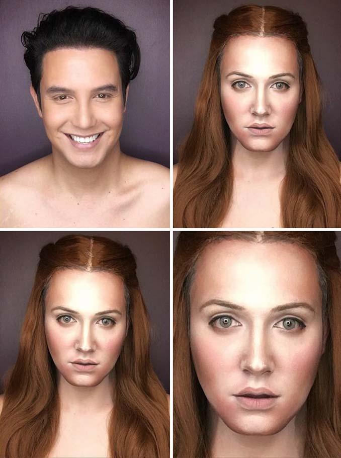 Άνδρας μεταμορφώνεται σε χαρακτήρες Game of Thrones με μακιγιάζ (6)