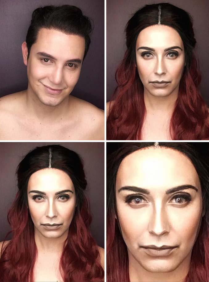 Άνδρας μεταμορφώνεται σε χαρακτήρες Game of Thrones με μακιγιάζ (7)