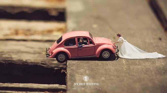 Φωτογράφος γάμων μετατρέπει τα ζευγάρια σε μινιατούρες (2)