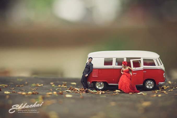 Φωτογράφος γάμων μετατρέπει τα ζευγάρια σε μινιατούρες (23)