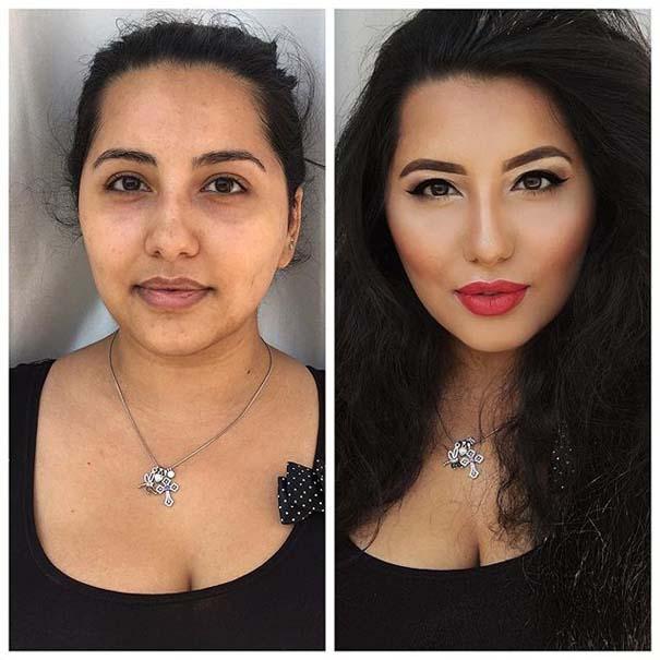 Γυναίκες με / χωρίς μακιγιάζ #20 (8)