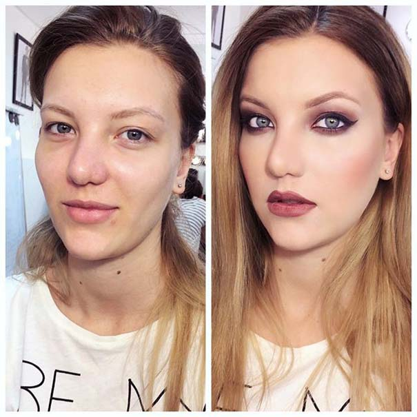 Γυναίκες με / χωρίς μακιγιάζ #20 (14)