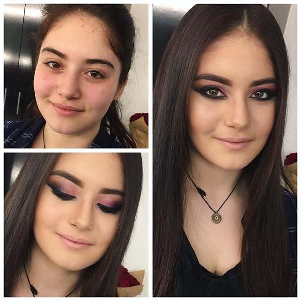 Γυναίκες με / χωρίς μακιγιάζ #20 (17)