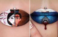 Καλλιτέχνις μετατρέπει τα χείλη της σε καμβά για απίστευτα έργα τέχνης (1)