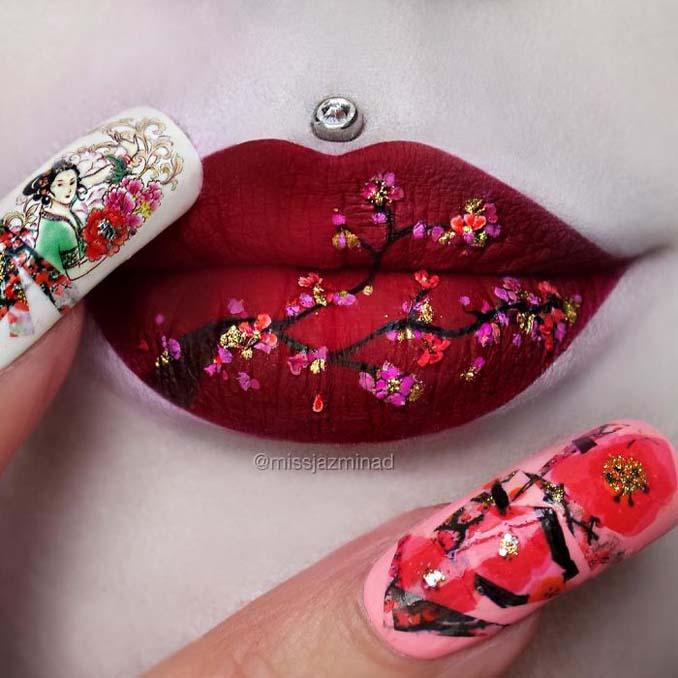 Καλλιτέχνις μετατρέπει τα χείλη της σε καμβά για απίστευτα έργα τέχνης (6)