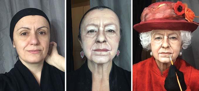 Makeup artist μεταμορφώνεται σε όποιο διάσημο πρόσωπο επιθυμεί (1)