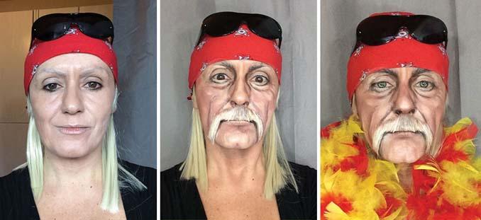Makeup artist μεταμορφώνεται σε όποιο διάσημο πρόσωπο επιθυμεί (3)