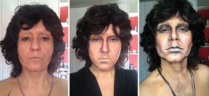 Makeup artist μεταμορφώνεται σε όποιο διάσημο πρόσωπο επιθυμεί (6)