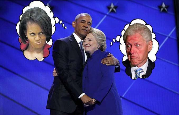 Obama & Clinton αγκαλιάστηκαν και οι χρήστες του Photoshop έδωσαν ρεσιτάλ (2)