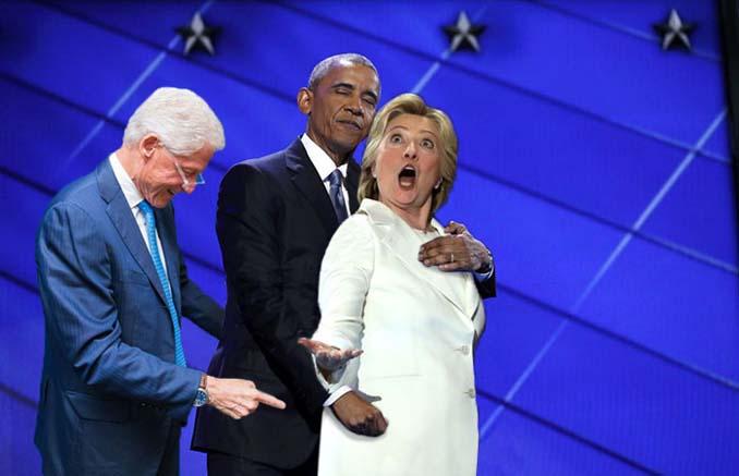 Obama & Clinton αγκαλιάστηκαν και οι χρήστες του Photoshop έδωσαν ρεσιτάλ (3)