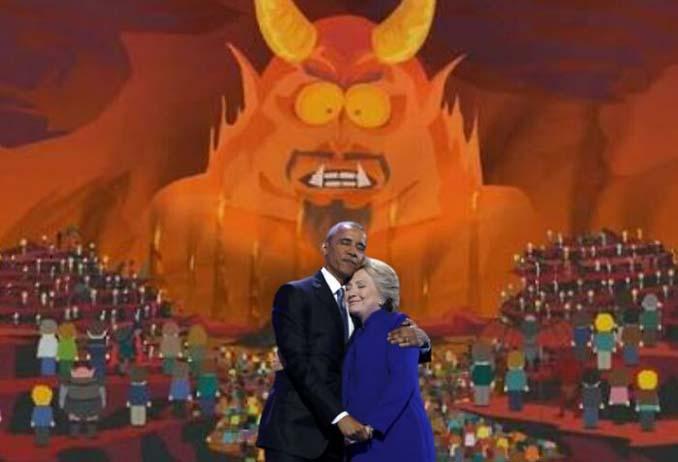 Obama & Clinton αγκαλιάστηκαν και οι χρήστες του Photoshop έδωσαν ρεσιτάλ (4)