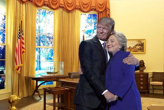 Obama & Clinton αγκαλιάστηκαν και οι χρήστες του Photoshop έδωσαν ρεσιτάλ (8)