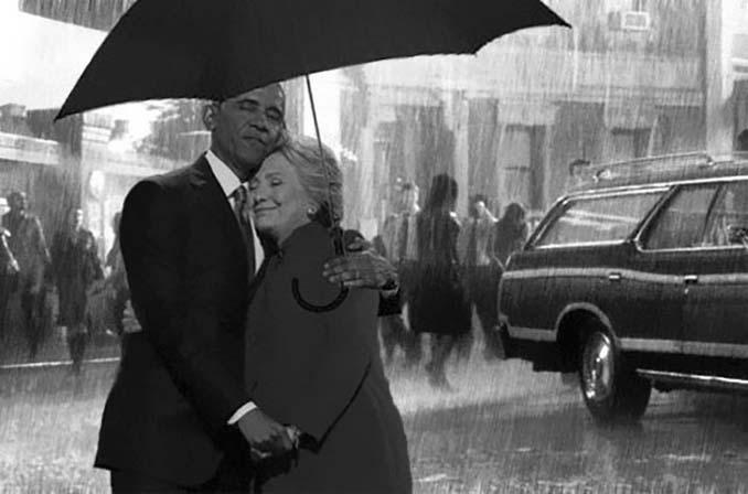 Obama & Clinton αγκαλιάστηκαν και οι χρήστες του Photoshop έδωσαν ρεσιτάλ (14)