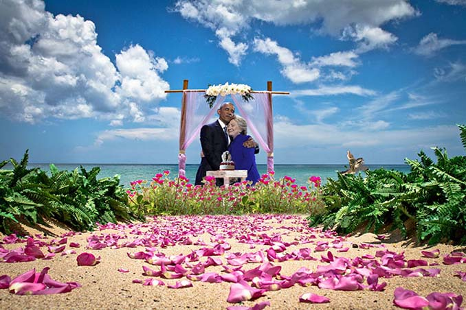 Obama & Clinton αγκαλιάστηκαν και οι χρήστες του Photoshop έδωσαν ρεσιτάλ (18)