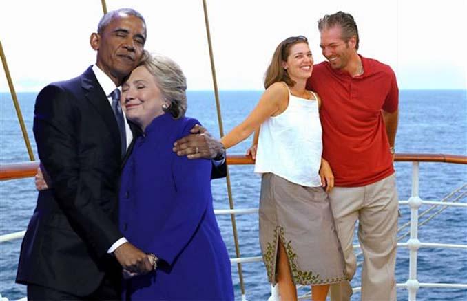 Obama & Clinton αγκαλιάστηκαν και οι χρήστες του Photoshop έδωσαν ρεσιτάλ (20)