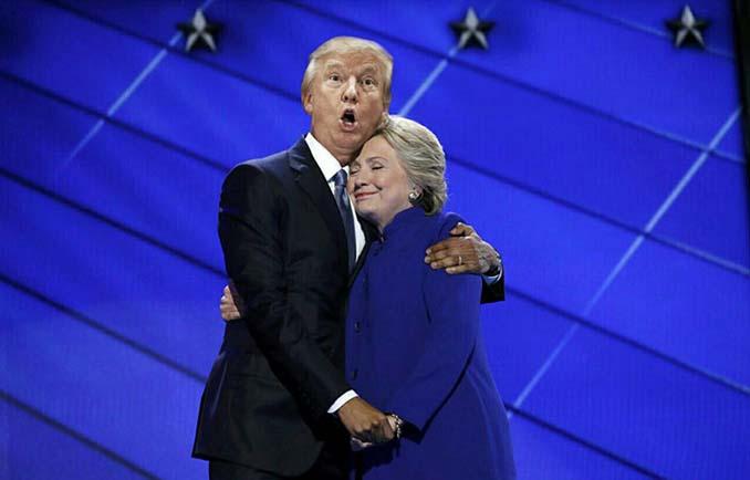 Obama & Clinton αγκαλιάστηκαν και οι χρήστες του Photoshop έδωσαν ρεσιτάλ (23)