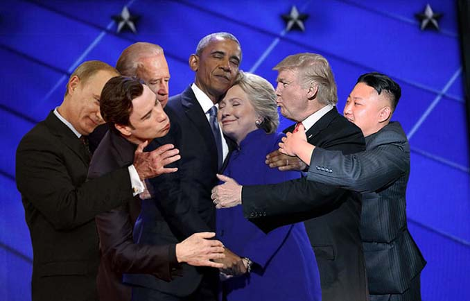 Obama & Clinton αγκαλιάστηκαν και οι χρήστες του Photoshop έδωσαν ρεσιτάλ (24)