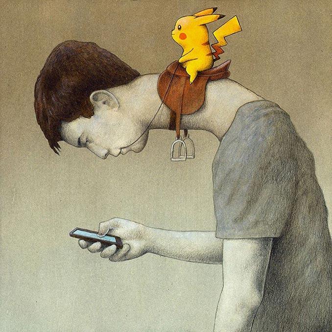 Το Pokemon GO όπως το βλέπει ένας βραβευμένος σκιτσογράφος | Φωτογραφία της ημέρας