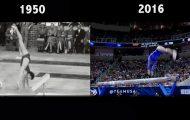 Η απίστευτη διαφορά της ενόργανης γυμναστικής του 2016 σε σχέση με τη δεκαετία του '50