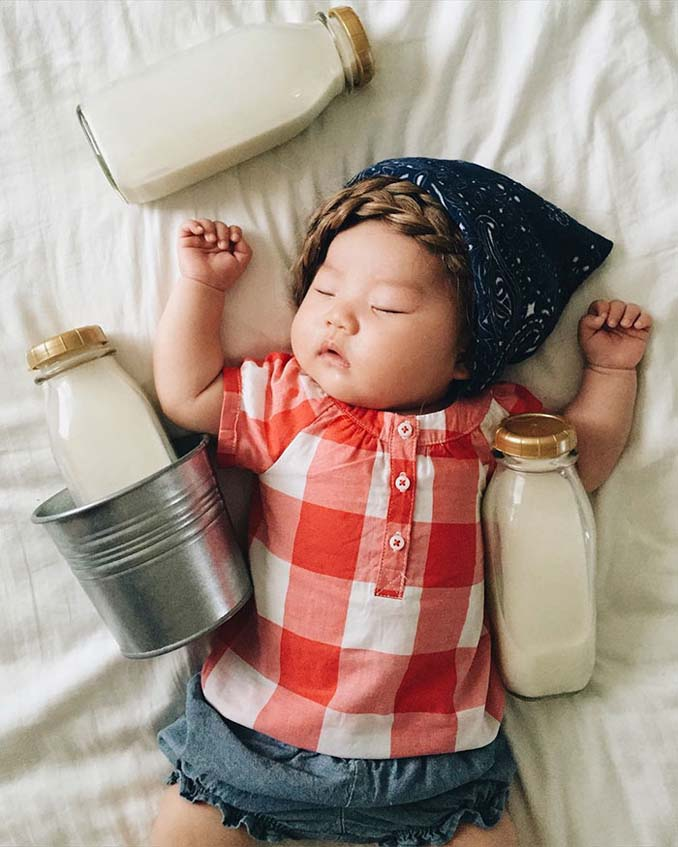 Οι απίθανες μεταμφιέσεις ενός μωρού την ώρα που κοιμάται (1)