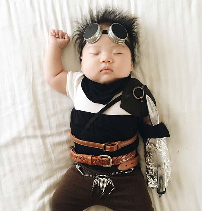 Οι απίθανες μεταμφιέσεις ενός μωρού την ώρα που κοιμάται (8)