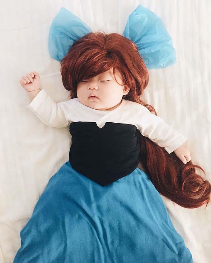 Οι απίθανες μεταμφιέσεις ενός μωρού την ώρα που κοιμάται (9)