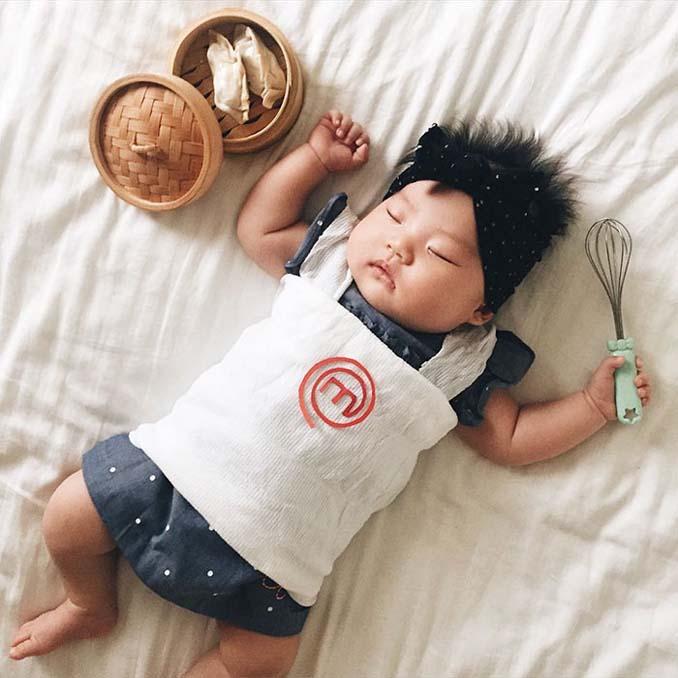 Οι απίθανες μεταμφιέσεις ενός μωρού την ώρα που κοιμάται (15)