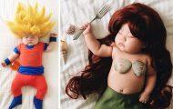 Οι απίθανες μεταμφιέσεις ενός μωρού την ώρα που κοιμάται