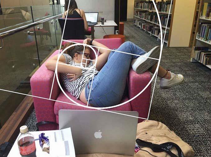 Φοιτήτρια αποκοιμήθηκε στην βιβλιοθήκη της σχολής και οι χρήστες του Photoshop ξεσάλωσαν (7)