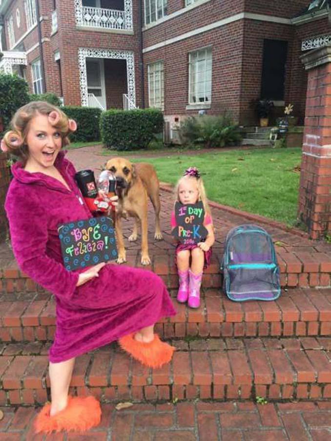 Ξεκαρδιστικές αντιδράσεις γονιών για την πρώτη μέρα των παιδιών τους στο σχολείο (1)